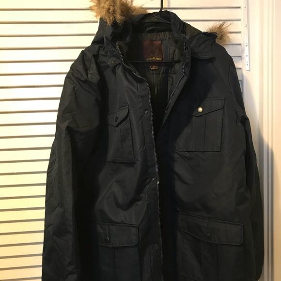 Mens Xl Navy Blue Fashion Winter Coat